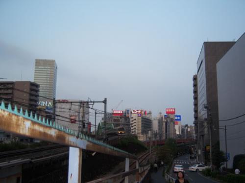 Akihabara quartiere di Tokyo da lontano