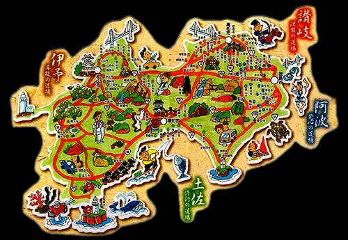 mappa turistica shikoku