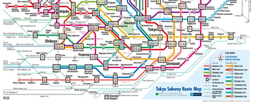 Subway Route Map Tokyo