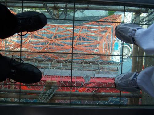 Pavimentazione in vetro dalla quale � possibile vedere il vuoto sotto di se