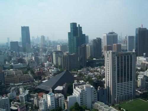 Vista dalla Tokyo Tower, primo punto di osservazione