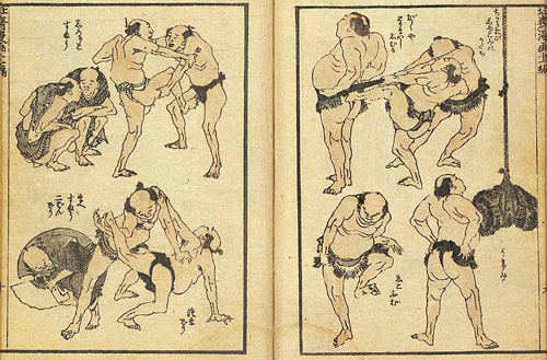 hokusai manga Sumo