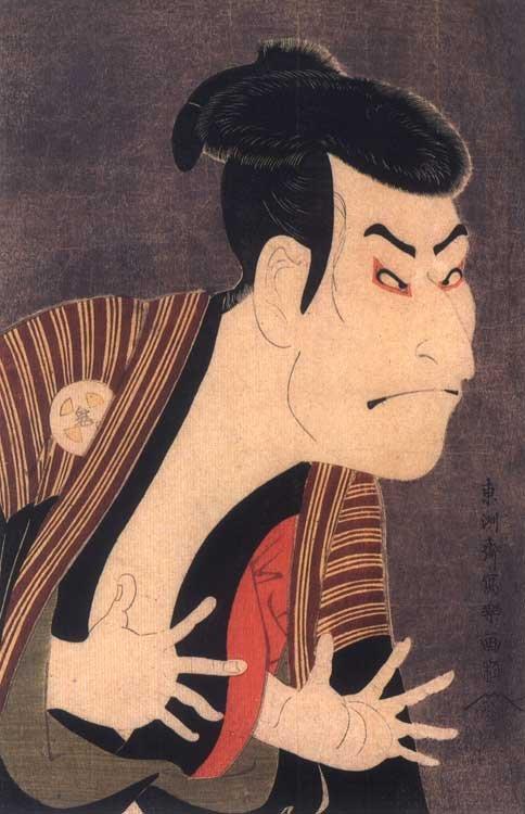 Ukiyoe Kabuki Actor Otani Onji II