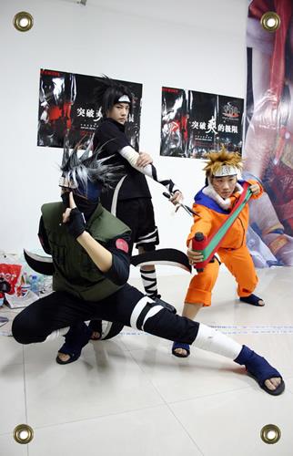Kakashi Naruto Sasuke Cosplay