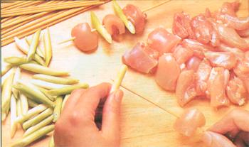 preparazione yakitori