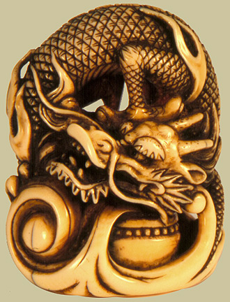 netsuke dragon shaped