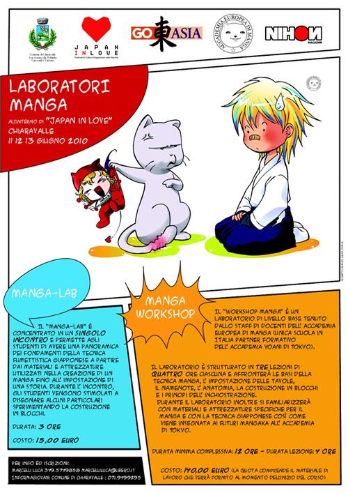 locandina laboratori manga chiaravalle