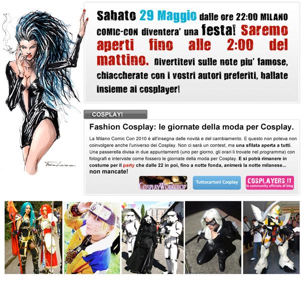 locandina milano comic con cosplay
