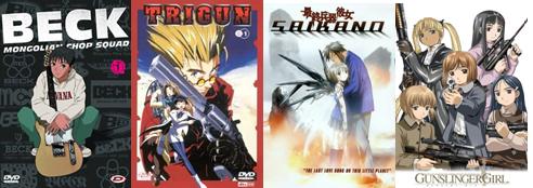 Beck Mongolian Chop Squad, Trigun, Gunslinger Girl, Saikano