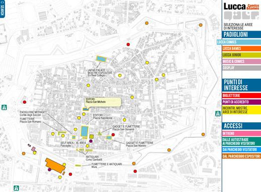 mappa piazza san michele lucca comics 2009