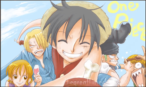 One Piece - The Mugiwara 5 by thegreatlimechan