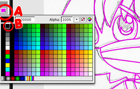 Choose line color in flash