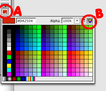 Pick Color in flash