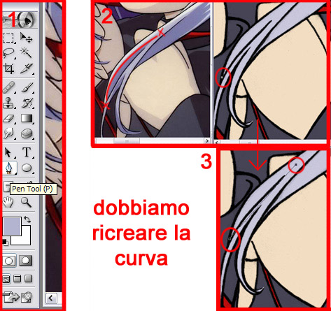 ombre luci stile anime photoshop