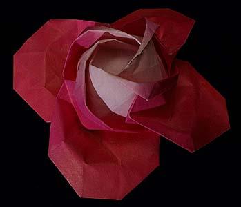 origami rosa