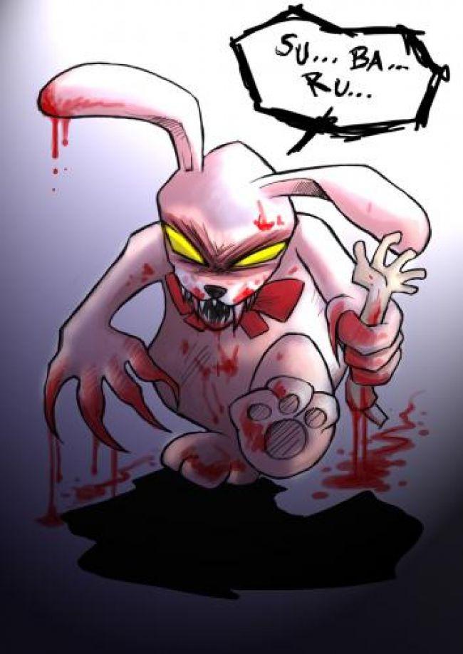a frightening kumagoro