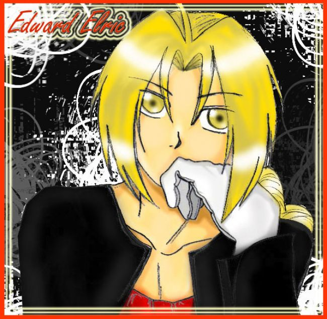 Edward Elric thoughtful