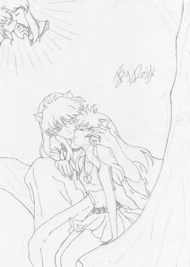inuyasha and ayasha hug