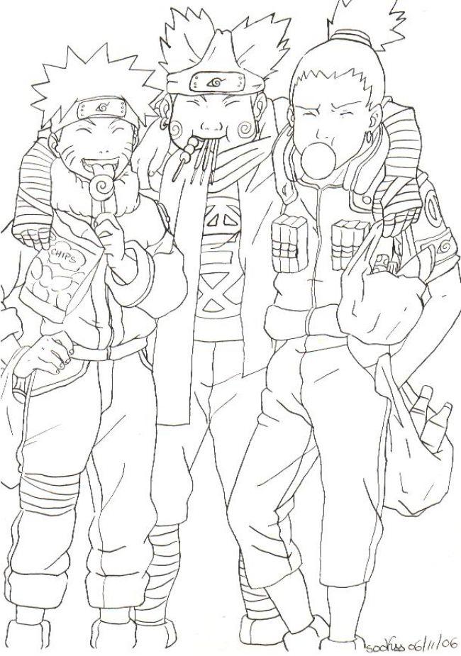 naru, choji and shika