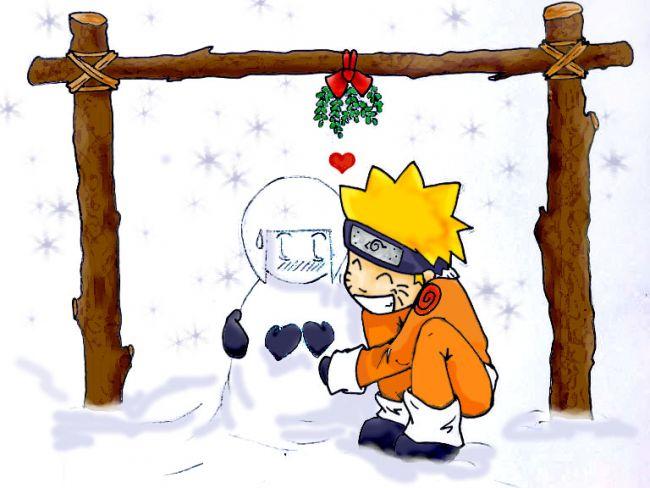 naruto and hinata-snow