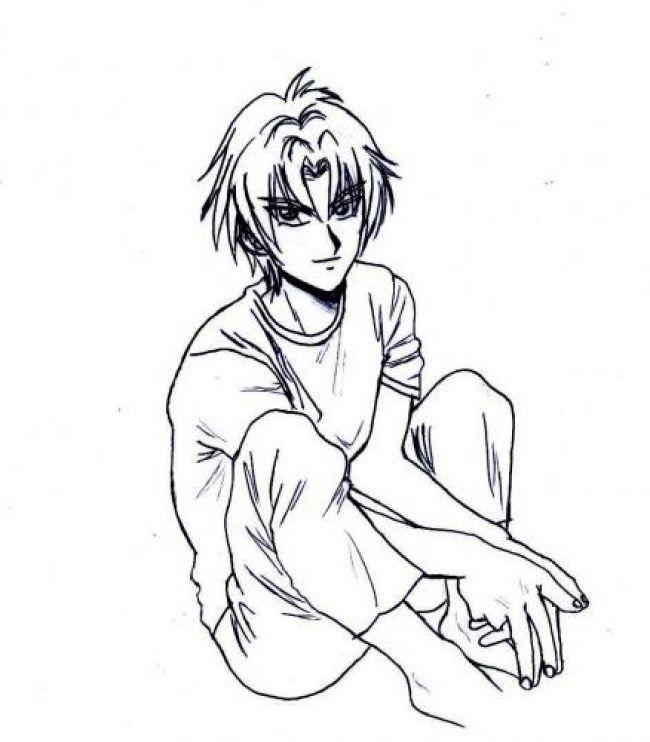 ryuichi sits