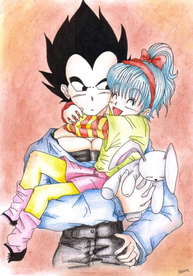 vegeta and bra