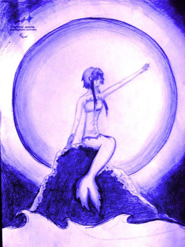 violet mermaid