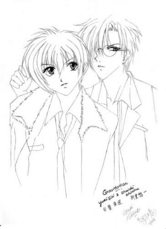 yuki and shuichi fanart