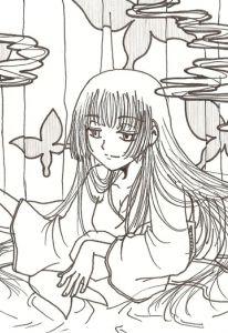 yuuko lying down